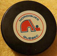 1980s NORDIQUES QUEBEC INGLASCO VINTAGE CANADA NHL HOCKEY OFFICIAL GAME PUCK