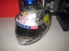 Sebastian Vettel hand signed Red Bull 1:2 scale Helmet from Championship Years