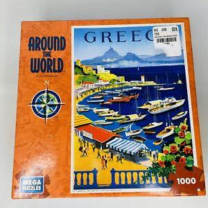 Mega Puzzles AROUND THE WORLD GREECE 1000 Pc Jigsaw Puzzle New