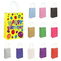 6 X PAPER BAGS PARTY PRESENT GIFT LUNCH BAGS KIDS HEN PARTIES LOOT FILLER BAGS