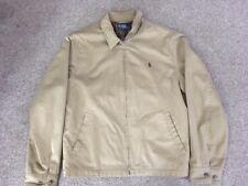 Vintage 1970's Polo Ralph Lauren Cotton Tan Golf Jacket W/ Plaid Lining, Size M