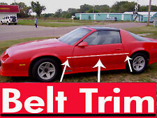 Chevy CAMARO IROC-Z CHROME SIDE BELT TRIM DOOR MOLDING 1982 - 1992
