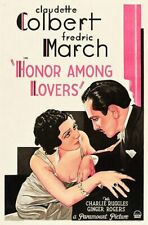 Honor Among Lovers - 1931 - Claudette Colbert Frederic March pre-Code Film DVD