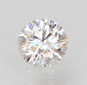 Certified 0.35 Carat E SI1 Round Brilliant Enhanced Natural Diamond 4.45m EX CUT