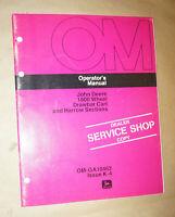 1974 John Deere 1800 Wheel Drawbar Cart  & Harrow Sections Operator's Manual