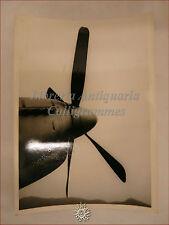 WWII Aeronautica: Primo Piano Ogiva Elica Motore Scarichi Aeroplano bombardiere?