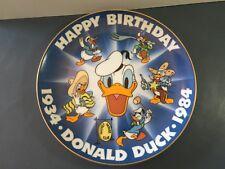 Disney Plate - Donald Duck 50th Birthday Celebration -Wdp, 1984