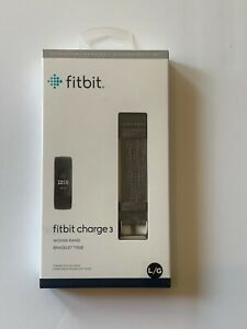 Fitbit Charge 3 Woven Band Bracelet - Charcoal Gray Size L/G Large