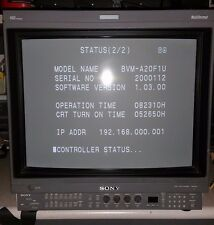 "Sony BVM-A20F1U 20"" Broadcast Monitor with BKM-61D and BKM-62HS Option boards"