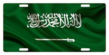 Saudi Arabia Flag Custom License Plate Kingdom Of Saudi Arabia Emblem Version 3