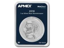 2 $ Dollar Star Wars Stormtrooper Niue Island Apmex MD® Premier 1 oz Silber 2018