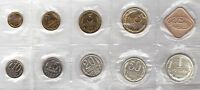 SOVIET UNION RUSSIA USSR - MINT PROOF SET 9 COINS: 0,01 - 1 ROUBLE 1988 + MEDAL