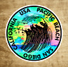"3"" Pacific Beach San Diego Beach Decal Sticker California Waves Surfing Surf"