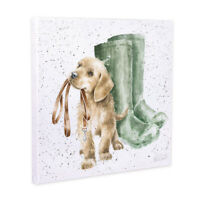 Wrendale Designs Hopeful Dog Illustrated Canvas - Decorative Home Accessories