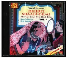 Karaoke CD Mehndi Shaadi Bidai Marriage Songs Hindi Films Vol 4 Aniruddh Music