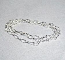 925 Sterling Silber Damen Ankerkette Halskette für Charms 45 cm 3,5 mm + Etui