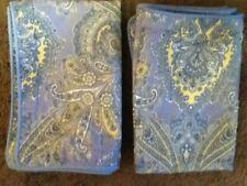 Laura Ashley Prescott Standard Pillow Shams Blue/Yellow Paisley (2) EUC