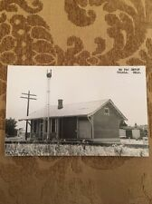 MO PAC Train Depot Talala Okla   Postcard Real Photo RPPC Union Train Station?