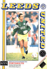 1989/90 Leeds United v Portsmouth, Division 2, PERFECT CONDITION