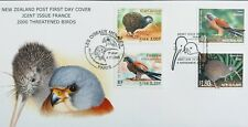 New Zealand Stamps, First Day Cover, Threatened Birds, Joint Issue with France