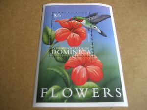 DOMINICA   2000    FAUNA AND FLORA: FLOWERS  SOUVENIR SHEET
