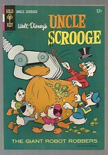 """9.2 Uncle Scrooge#58 """"The Giant Robot Robbers"""" Carl Barks Art=24pgs Gold Key-'65"""