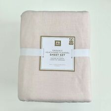 Pottery Barn Teen Heathered Organic Flannel Sheet Set Queen Powdered Blush