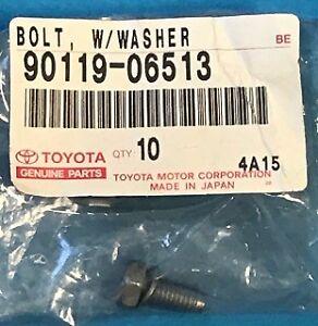 10-PC GENUINE TOYOTA LEXUS 9011906513 VARIOUS MODELS BOLT A/T CASE 90119-06513