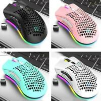 2.4Ghz Wireless Mouse 1600Dpi Adjustable USB Rechargeable Mouse Honeycomb U6F6