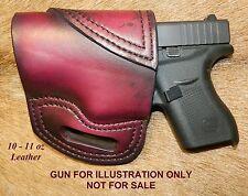 Gary Cs Avenger Owb Left Hand Holster Fits Glock 42 380 Heavy Leather