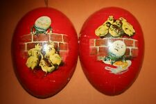 "rarest 5"" early German cardboard Easter Candy Container Humpty Dumpty Litho egg"