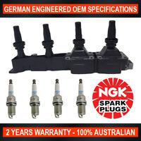 4x Genuine NGK Spark Plugs & 1x Ignition Coils for Citröen C3 1.4L