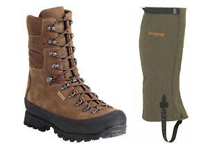 New Kenetrek Mountain Extreme 400 Leather Boots KE-420-400 Hiking  FREE GAITERS