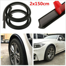 2Pcs 150cm Universal Black Rubber Car Fender Flare Wheel Eyebrow Protector Strip