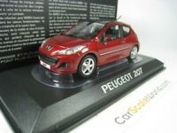 PEUGEOT 207 3P 2009 FACELIFT 1/43 NOREV (DARK RED)