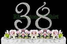 Large Rhinestone NUMBER (38) Cake Topper 38th Birthday Wedding Party Anniversary