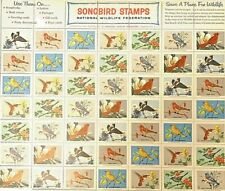 Songbird Stamps National Wildlife Federation Full Sheet