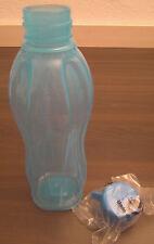 Tupperware C 136 ECO Easy 500 ml bouteille flacon rond bleu clair bleu nouveau neuf dans sa boîte