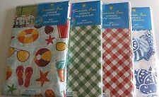 "UMBRELLA VINYL TABLECLOTHS   w/ ZIPPER CLOSURE Assorted Designs  70"" Round"