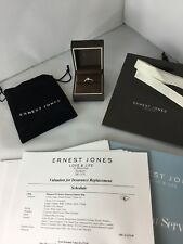 Ernest Jones 950 4.32g Platinum Modern Solitaire Ring boxed & £1,675 Valuation