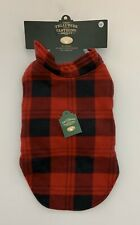 Dog Jacket Winter Coat Black Red Buffalo Check Plaid Fleece Medium Christmas NEW
