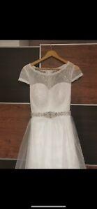 tea length wedding dress size 16