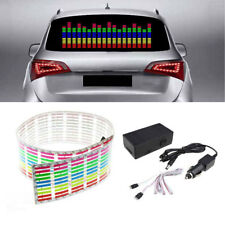 Car Sticker Music Rhythm LED Flash Light Lamp Sound Activated Equalizer 45*11cm