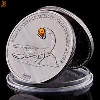 Mongolian Wild Gobi Scorpion 1 OZ 500 Togrog Antique Silver Collectible Coin
