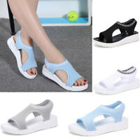 Women Sports Sandals Platform Wedge Mesh Walking Shoes Plus Size Summer Casual #