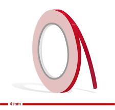 ZIERSTREIFEN - 4mm ROT GLANZ 10m Auto red Modellbau 4 Stripe Boot 0,4 cm Dekor