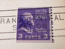 VINTAGE UNITED STATES POSTAGE 3 CENT STAMP 1952 THOMAS JEFFERSON NEW YORK LETTER