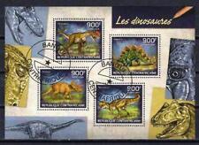 Animaux Préhistoriques Centrafrique (39) série complète 4 timbres oblitérés