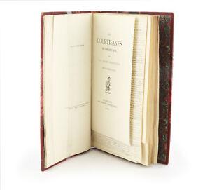 Paul LACROIX Les Courtisanes EDITION ORIGINALE sur Japon bien relié  + Manuscrit