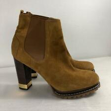 eebb09dea8f7 TORY BURCH 9.5 Gold Suede Tan Booties Boots Heels